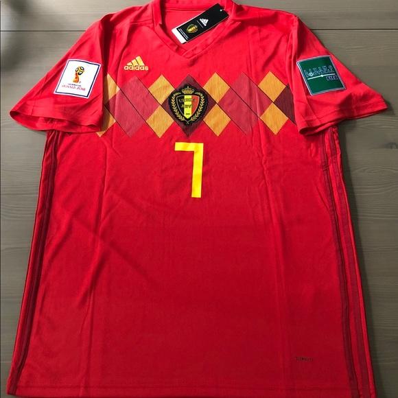 new concept 55550 03e6f Belgium E. De Bruyne #7 red Soccer jersey men NWT